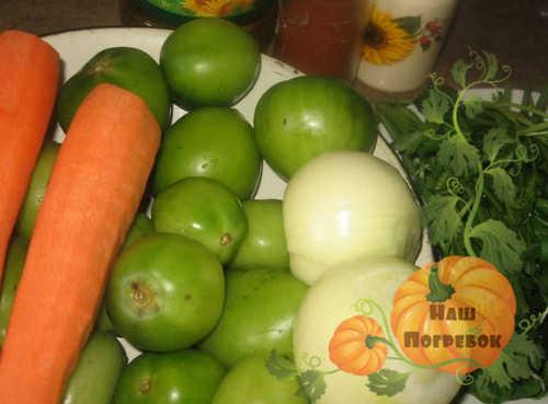 produkty-dlya-zelenyh-pomidorov-s-morkovyu