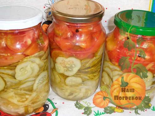 salat-na-zimu-iz-ogurcov-i-pomidorov-v-sobstvennom-soku-recept