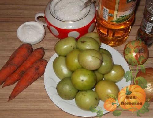 produkty-dlya-ikry-iz-zelenyh-pomidorov