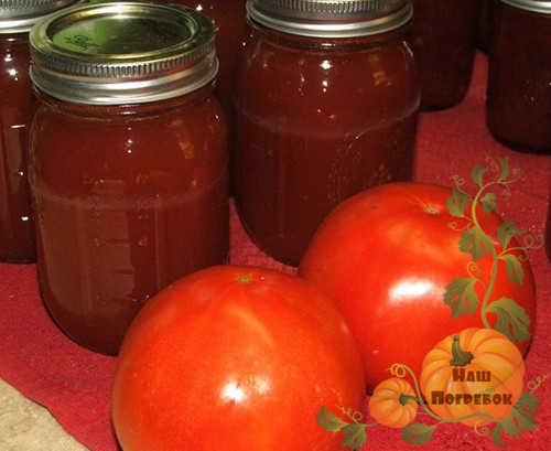 Кетчуп с помидор рецепт