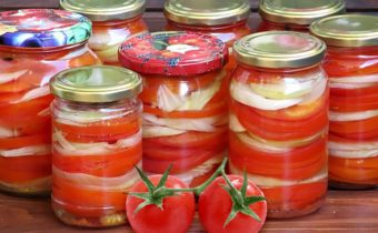 Zagotavlivaem salaty iz pomidor na zimu - ljubimye recepty